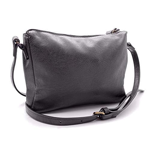 Crossbody Vintage Bag retrò Vintage Angkorly E Ogni Da Moda Tendenza Per Di Stile Borsa Borse A Mini Sera Intrecciato Flessibile Elegante Idea Giorno Regalo Tote Clutches Donna Mano Nero Tracolla vZva0T