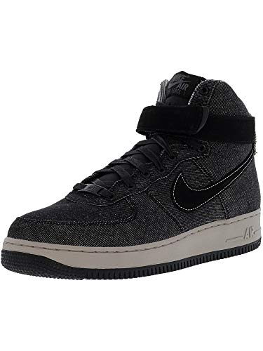Nike Women's Air Force 1 Hi Se Black/Dark Grey Cobblestone High-Top Leather Basketball Shoe - 10M