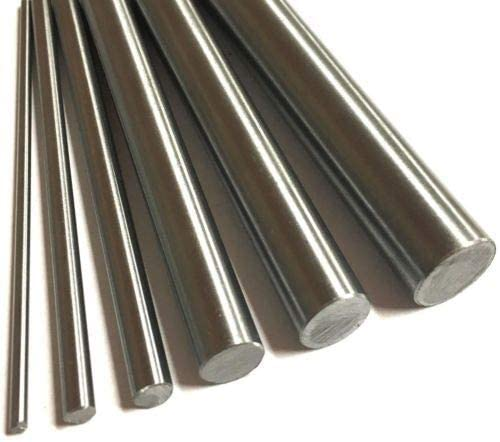 XSRJ 303 Stainless Steel Rod 2mm 3mm 4mm 5mm 6mm 7mm 8mm 10mm 12mm 16mm Linear Shaft Rods Metric Round Bar Ground 400mm length Color : 2.5mm, Size : 400mm