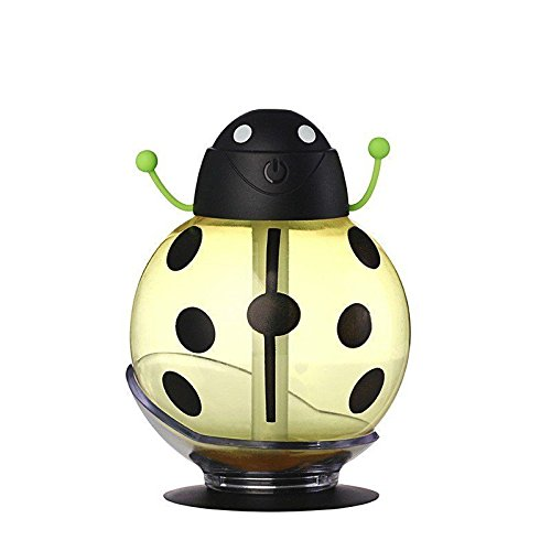 UNISHOW® USB Mini Portable Humidifier for Home, Office, and Car (Ladybug Yellow)]()