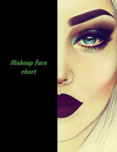 Makeup Face Chart: A Blank Makeup Portfolio Workbook