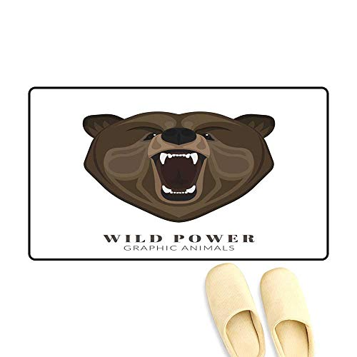 Interior Doormat Screaming Bear -