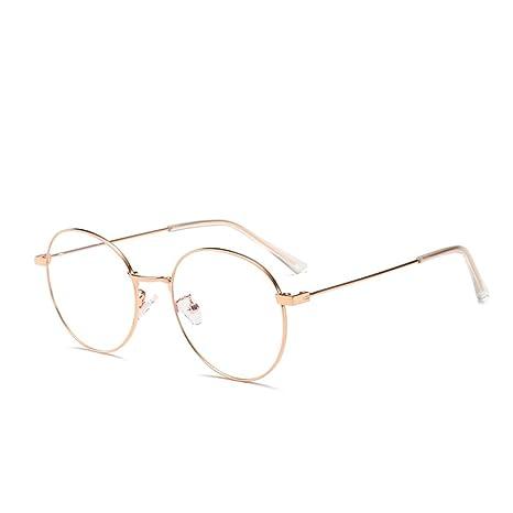 Color : Silver Nalkusxi Runde Brille aus nichtrostendem Stahl aus rostfreiem Stahl f/ür Damen und Herren