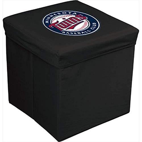 Baseline Sports Cards 16 in. Team Logo Storage Cube44; Minnesotta Twins
