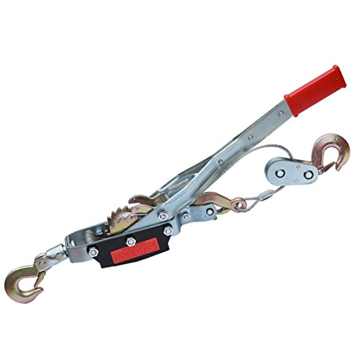 X-BULL Heavy Duty Hand Puller Come Along Cable Hoist 2 Hooks (2 Ton) (Boat Hand Puller)