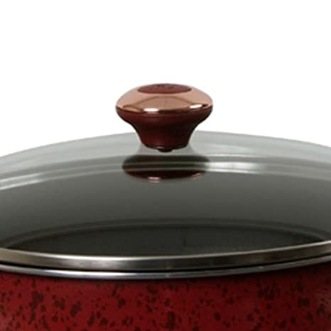 Paula Deen porcelana 5 Quart Covered de profundidad sartén sartenes: Amazon.es: Hogar