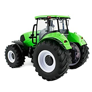 Boley Farmer John Green Tractor Toy Truck with Big Wheels - Our Collection of Tractor Toys, Farming Tractors, and Farm Equipment for Kids and Toddlers
