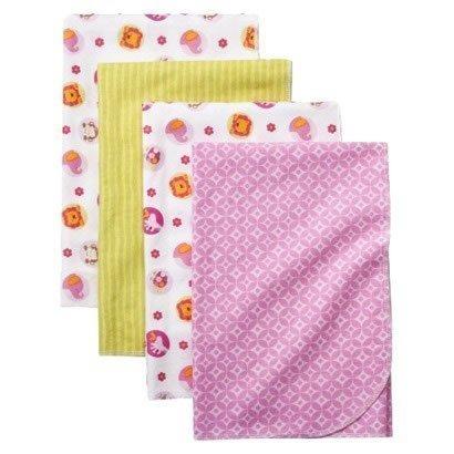 Tiddliwinks Sweet Safari 4pk Receiving Blankets