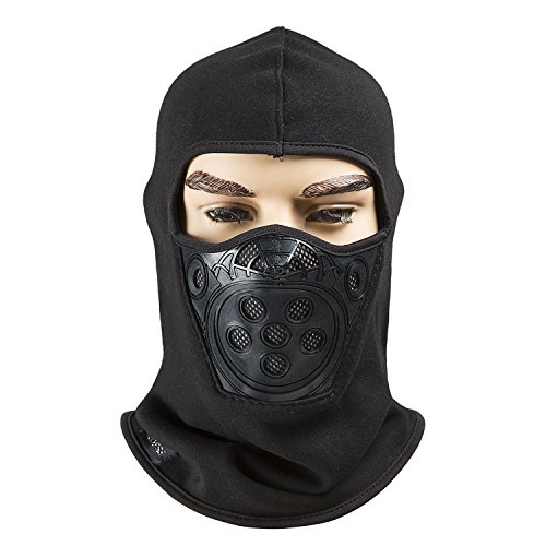 Fleece Lined Balaclava ,Breathable Winter Windproof Ski Face Mask, Tactical Hat and...
