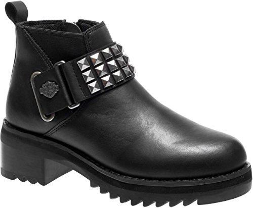 Harley-Davidson Women's Kemper Fashion Boot, Black, 7 Medium (Kemper Boot)