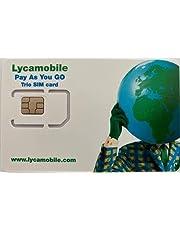 Lycamobile 10 GB USA SIM-kaart Prepaid - mobiele gegevens 4G/LTE, onbeperkt nationale en internationale oproepen + sms (10 GB voor 30 dagen)