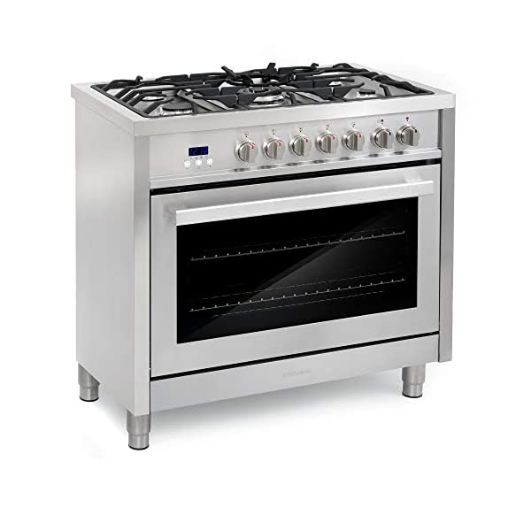 Cosmo F965 36 in. Dual Fuel Gas Range with 5 Sealed Burners, Convection Oven with 3.8 cu. ft. Capacity, 8 Functions… 4
