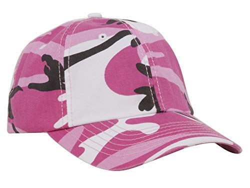 - Mega Cap Hook and Loop Closure Camo Cap - Pink Camo