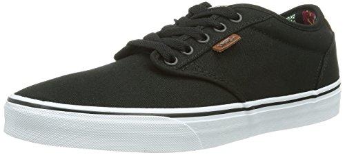 木カレッジ宿Vans Atwood Deluxeスケートボード靴10ozキャンバスブラックグアテマラ