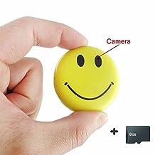 Mengshen 8GB HD Mini Spy Smile Face Badge Wearable Hidden Camera Cool Spy Gadget Mini DV DVR Camcorder Video Recorder MS-HC38C