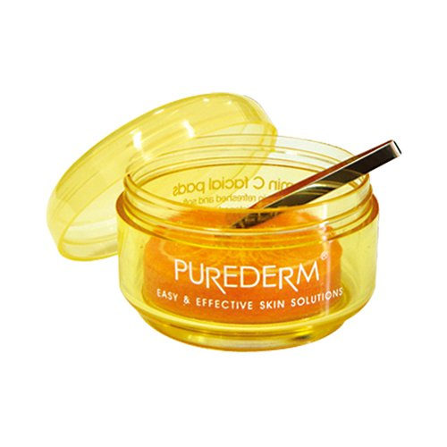 Purederm - Vitamin C Facial Pads for men and woman - For dry and sensitive Skin and Eye Area - Skin Mask - Eye Mask - Facial ()