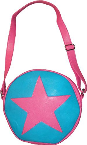 TV Store Scott Pilgrim vs. The World Ramona Flowers Star Circle Messenger Bag (Pink/Turquoise) -