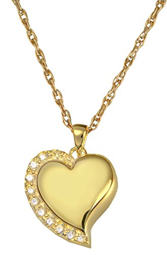 Cremation Memorial Jewelry: Gold Plated Shine -