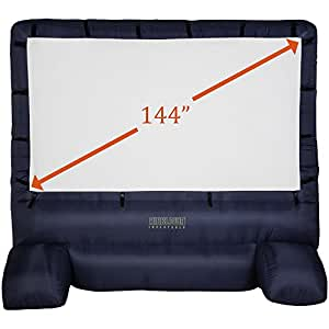 """Gemmy 39127-32 Deluxe Airblown Movie Screen Inflatable with Storage Bag, 144"""" Screen"""