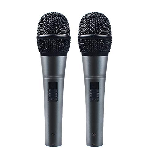 Professional Dynamic Cardioid Vocal Wired Microphone with XLR Cable (19ft XLR-to-1/4 Cable), MAONO-K04 Metal Cord Mic Plug and Play for Stage, Performance, Karaoke, Public Speaking,Home KTV(2 Pack) (Dvd Korean Karaoke)
