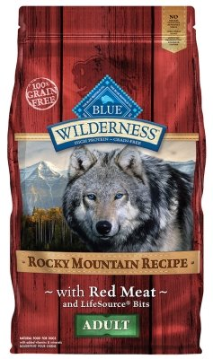 "WILDERNESS ROCKY MOUNTAINS ADULT RED MEAT 4LB ""Ctg: OTHER PET FOODS - BLUE BUFFALO DOG DRY"""