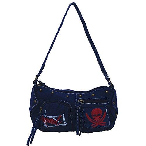 Navy Bag 16 Glam Daryl Canvas Shoulder Grunge xvZXxY