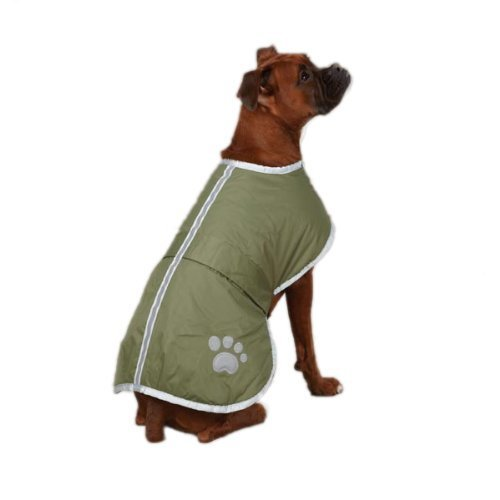 - TOPSOSO Fashion Shop Nor'Easter Blanket Coat for Dog Green XL.