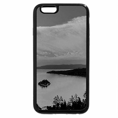 iPhone 6S Case, iPhone 6 Case (Black & White) - Yellow Sunset