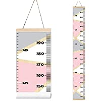 Miaro Kids Growth Chart, Wood Frame Fabric Canvas Height...