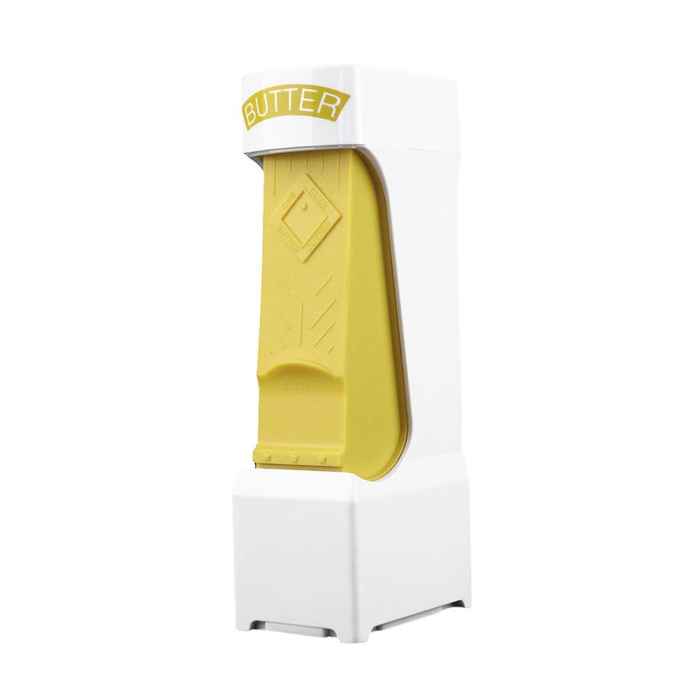 Everyfit- New Butter Cutter, Cheese Slicer, Butter Slicer, Cheese Dispenser Splitter, One Click Stick Butter Cutter With Stainless Steel Blade, Butter Savers