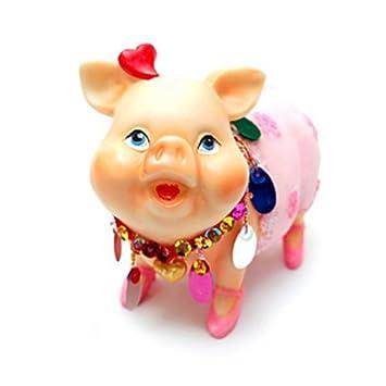 amazon 貯金箱 miss piggy bank ミスピギーバンク ピンク