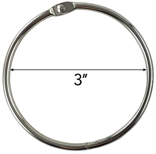 Clipco Book Rings Extra Large 3-Inch Nickel Plated (10-Pack) Photo #2