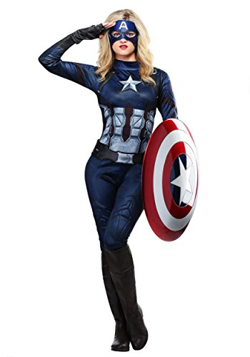 Captain America Womens Costume Small (Ladies Captain America Costumes)