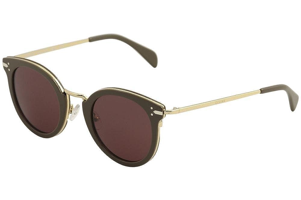 d8bb4e858a Top1  CEL Celine 41373 S 0HDF Khaki Gold EF pink lens Sunglasses
