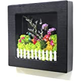 Scandia Moss Frame (black) for Air purification Removal of Sick House Syndrome Interior Hand-made