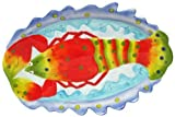 "Sculpted Ceramic Marine Life Lobster Platter, 15""Lx10""W"