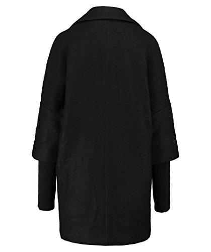 Noir Femme Manteau Minimum Minimum Manteau WZnO4xHg
