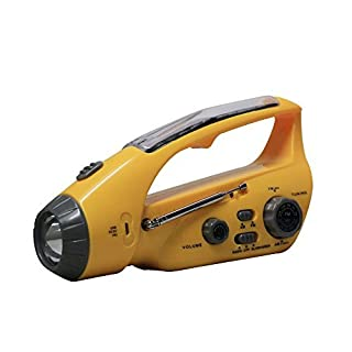 Bear Motion BMXLN-288DS Self-Powered Dynamo AM/FM Radio with Flashlight, Solar Power and Cell Phone Charger - Yellow (B008CMMMJU) | Amazon price tracker / tracking, Amazon price history charts, Amazon price watches, Amazon price drop alerts