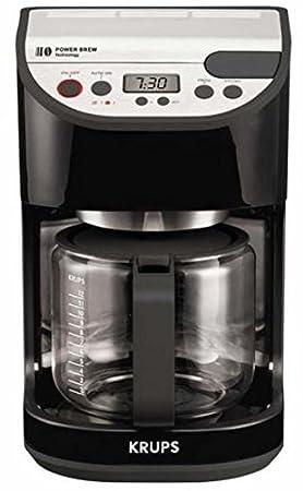 Krups KM 5055, LCD, Negro, Acero inoxidable, Plástico, Acero inoxidable - Máquina de café: Amazon.es: Hogar