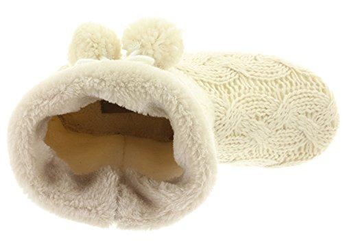 MIK Funshopping - Pantuflas Mujer blanco crudo