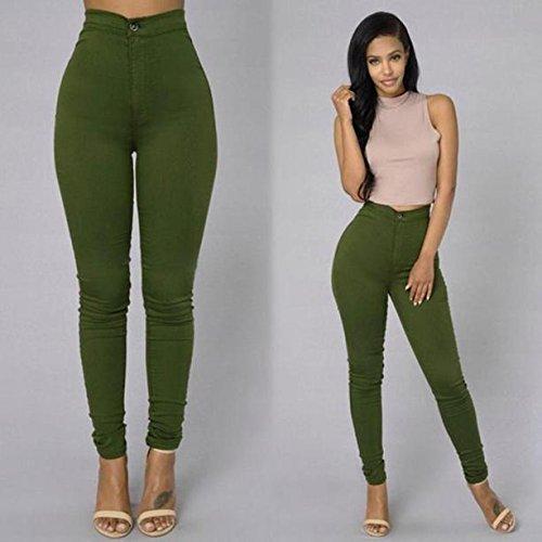 Rosso forti Donne sexy Verde Verde donna 2018 Pantaloni Blu Nero alta Bianco estivi taglie Pantaloni vita curvy Dragon868 Pantaloni xO15TqwP