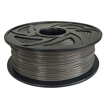 Filamento PLA para impresora 3D, 1,75 mm, gris, 1 kg, bobina de ...