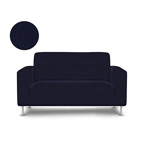 Le Benton LoveSeat Cover,Decorative Metallic Dot Style, 2 Seat Fitted Couch Cover, Premium Pet Furniture Protector, Navy Blue, Red by Le Benton