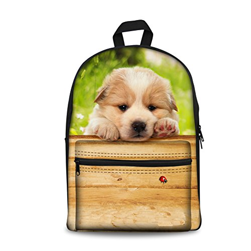 Women Boys Stylish for Casual Laptop Men College Print Backpack School dog3 Hiking Trip Canvas Weekend Cat Girls Dog Travelling Daypacks Bag Teenagers Backpacks Bookbags Black ThiKin Casual RCxYt8qn
