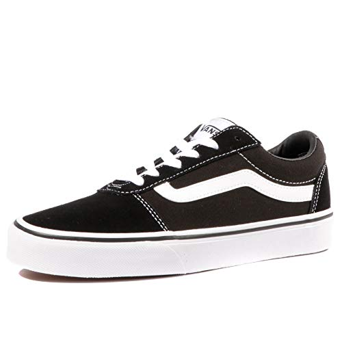 Vans Women's Ward Suede/Canvas Low-Top Sneakers, Black ((Suede/Canvas) Black/White Iju), 3 ()