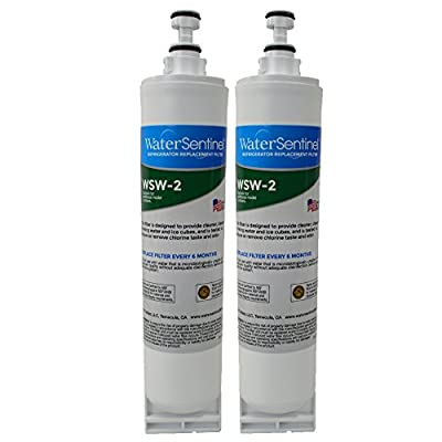WaterSentinel WSW-2 Refrigerator Replacement Filter: Fits Whirlpool Filter 5 (2 Pack)