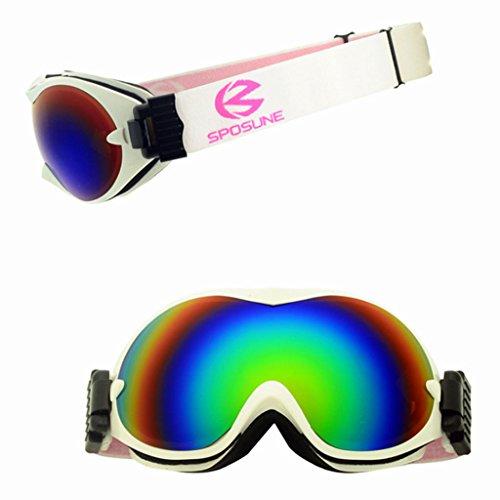 explosiones de esquí Material de y PC a Gafas Prueba Polvo a Prueba antivaho Impermeable Doble Blanco de 0qxCdgOw