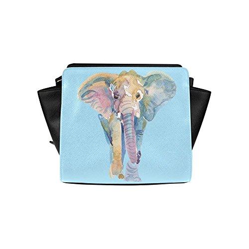 Meincare Women's Elephant Animal Art Pu Leather Satchel Bag