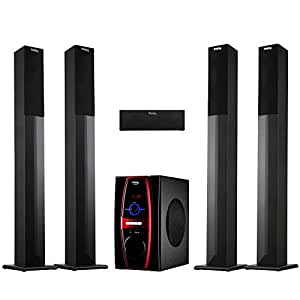 Frisby FS-6600BT 5.1 Channel Stereo Home Theater System w/ Tower Satellite Speakers & Bluetooth / USB / SD / AUX / Remote Control