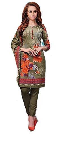 Cotton Printed Salwar Suit with Dupatta  unstitched